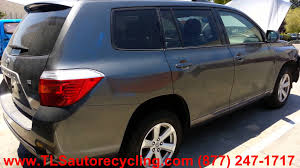 parting out 2008 toyota highlander stock 3070yl tls auto