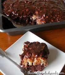 almond joy cake the southern lady cooks