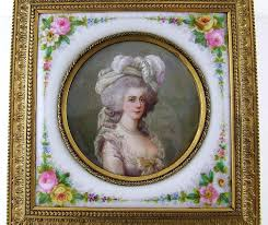 Gilt Bonze Enameled Portrait A Marvelous 19th Century Gilt Bronze Jewelry Box Housing Not