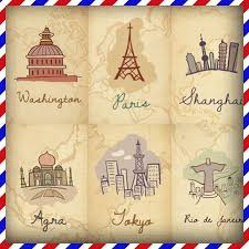 free shipping around the world colorful postcards 20 pcs