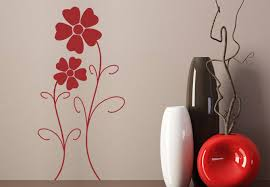 Flower Design Wall Sticker Beautiful Stylized Floral Decor - Design wall decal