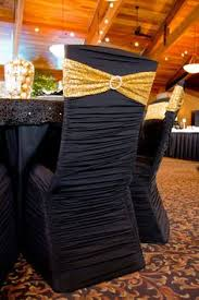 Gold Spandex Chair Covers Ruched Fashion Spandex Banquet Chair Cover Black As Low As