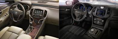 chrysler 300c 2016 interior head to head 2016 buick lacrosse vs 2016 chrysler 300