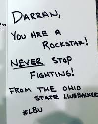 ohio state linebackers send thoughtful message to leukemia patient