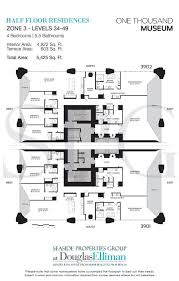 one thousand museum floor plans luxury waterfront condos in miami