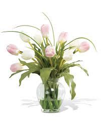 Flower Arrangement Shop Mixed Tulip Silk Flower Arrangement At Petals