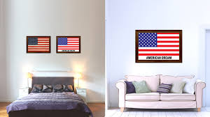 american dream usa flag patriotic office wall home decor