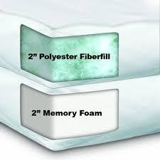 Gel Memory Foam Topper Amazon Com Sleep Innovations Dual Layer 4 Inch Topper Queen