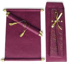 marriage cards 9 scroll wedding invitations scroll marriage cards by awc