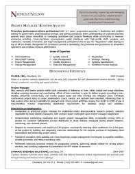 resume project manager manager resume objective examples project