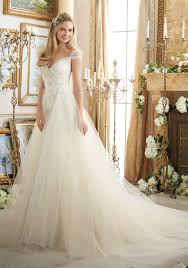 wedding dresses america appliques on soft net with diamante beading style 2894 morilee