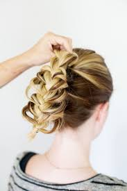 hair plait with chopstick tucked braid updo a beautiful mess