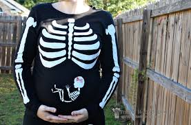 Ladies Halloween Shirts by Our Last Minute Costumes Pregnant Skeleton And Matching