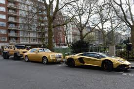 lamborghini gold saudi tourist u0027s gold cars slapped with parking fines in london