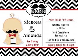 mustache baby shower invitations mustache black grey baby shower invitations candles
