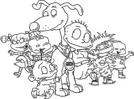 how to draw the rugrats characters coloring page rugrats