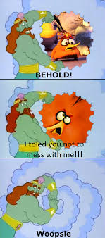 Orange Memes - behold meme 3 bubbles the orange bird by deecat98 on deviantart