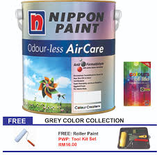 nippon paint odour less air care 5l grey color collection