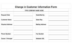 doc 12811656 customer information form template u2013 doc12811656