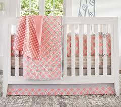 Soho Crib Bedding Set Soho Baby Bedding Set Pink Pottery Barn