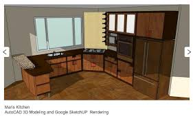google sketchup and autocad portfol