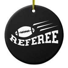 american football referee ornament zazzle