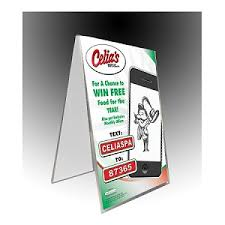 table tent sign holders plastic table tent 4 x 6 sign and menu display