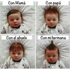 Meme Bebe - peinados del beb
