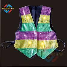 mardi gras vest popular battery operated light up multi color mardi gras