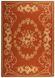 rust u0026 beige country style indoor outdoor rug safavieh