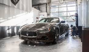 maserati gray maserati ghibli car wrap in xpel stealth paint protection