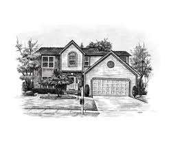 pencil sketches of houses home sketch house sketch art from a