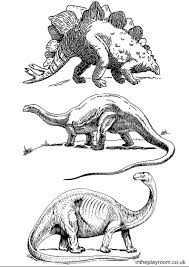 dinosaur colouring pages playroom