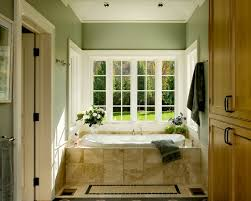 architecture transitional entry green painted wall with dark