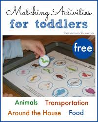 For Toddlers Printable Free Matching Activities For Toddlers The Measured