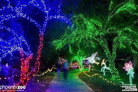 christmas light displays in phoenix the phoenix zoo transforms into the valley s brightest holiday