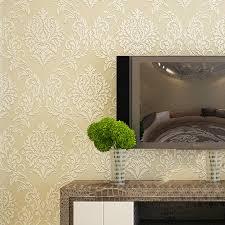 Wallpaper Livingroom by European Luxury Damask Wall Paper 3d Foam Flocking Non Woven