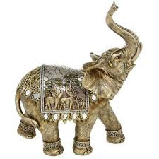 buy large decorative indian elephant ornament gold silver from