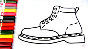 coloring for children to learn colors and color this shoes