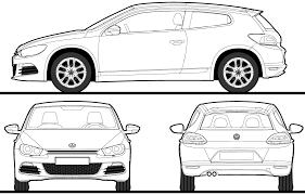 volkswagen clipart car blueprints 2009 volkswagen scirocco coupe blueprint
