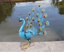 peacock metal garden statues lawn ornaments ebay