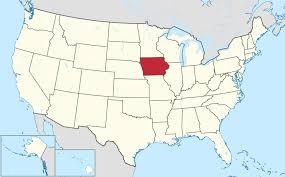 50 States Map With Capitals by List Of Cities In Iowa Wikipedia