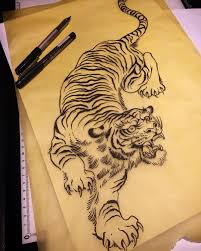 20 best traditional tiger tattoo drawing images on pinterest