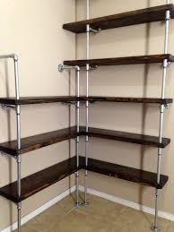 Corner Bookcase Unit Corner Shelving Unit Corner Shelf Pipe Shelving