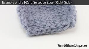 how to knit the i cord edge stitch new stitch a day