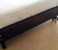 Casters For Bed Frame Brown Design That