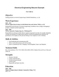 Best Resume Usa by Electrical Resume Resume For Your Job Application