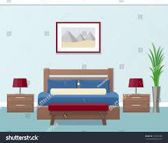 hotel room interior flat style modern stock vector 513916489