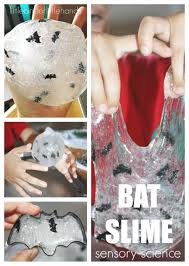 make easy slime bat slime halloween activity