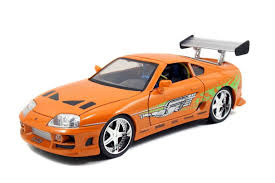 toyota supra drawing fast and furious 1 18 scale diecast car orange 1995 brian u0027s